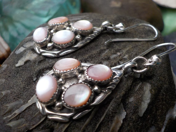 Pretty Pink Mother of Pearl Vintage Native America