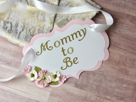 Mommy To Be Flowers Pink And Gold Baby Shower Chair Sign Baby Shower Chair Sign Baby Shower Decor Baby Shower Sign