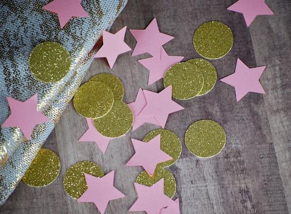 Pink Star and Gold Circle Confetti dfe9d6abdf1b