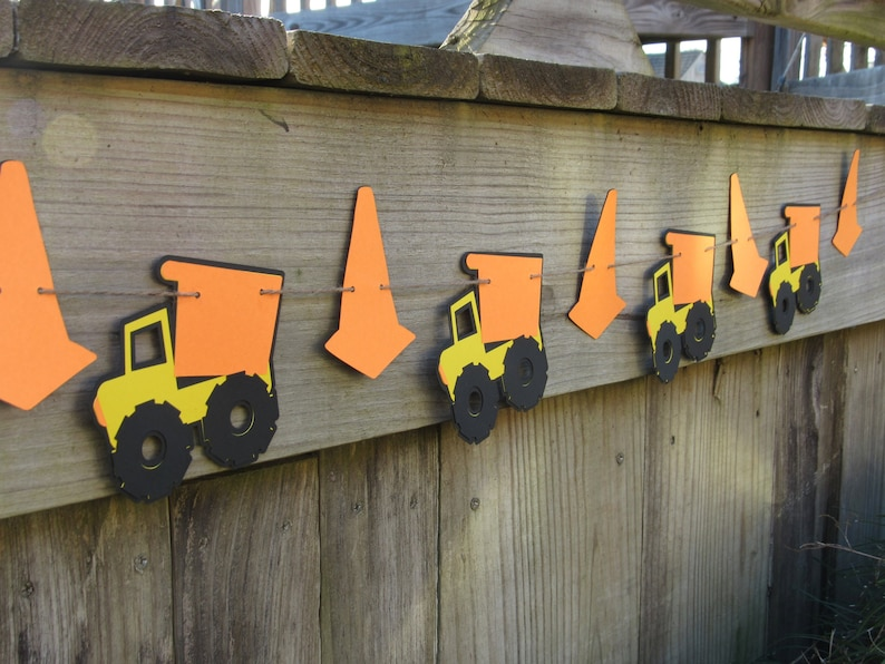 6 ft Construction Truck Garland Construction Party Decorations Construction Birthday Party Banner Dump Truck Party Decorations