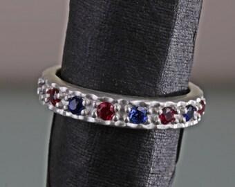 1fdb9213f49ed Ruby sapphire ring | Etsy