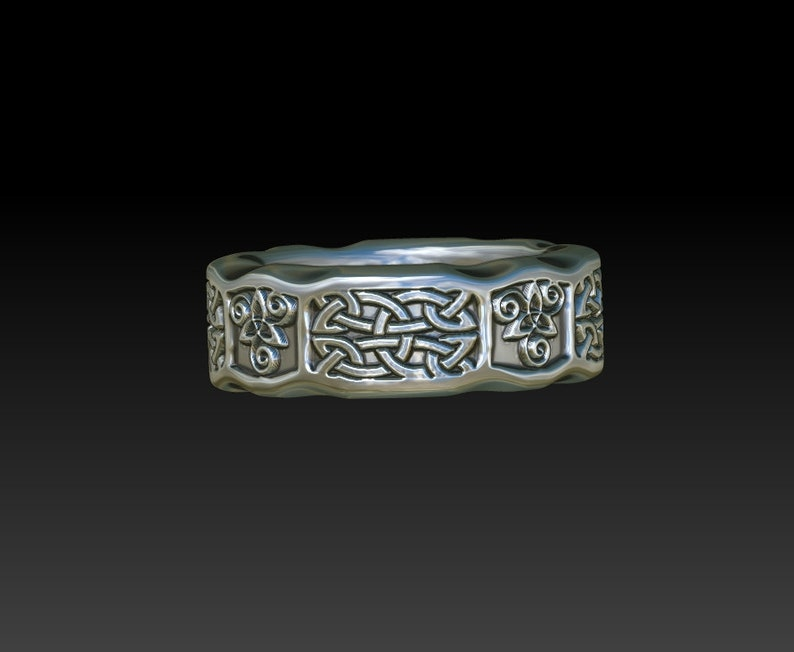 Celtic wedding ring man woman wedding band Irish Scottish ring ZB26