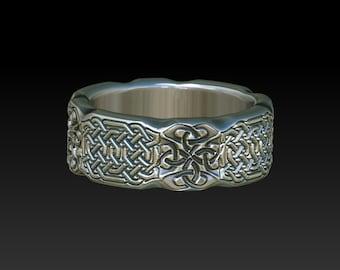 Celtic Irish Scottish woman men wedding ring band  ZB13