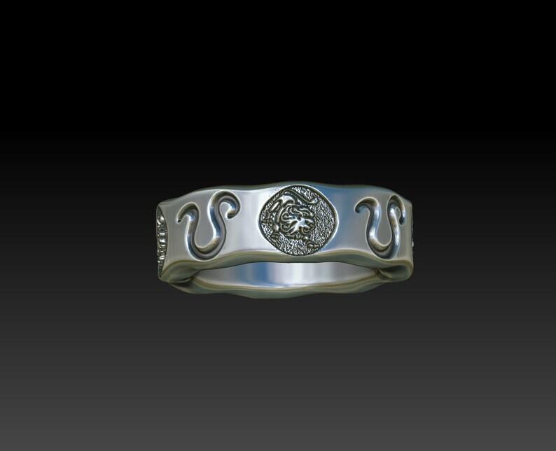 Leo men women ring zodiac sign band constellation women men ring LB