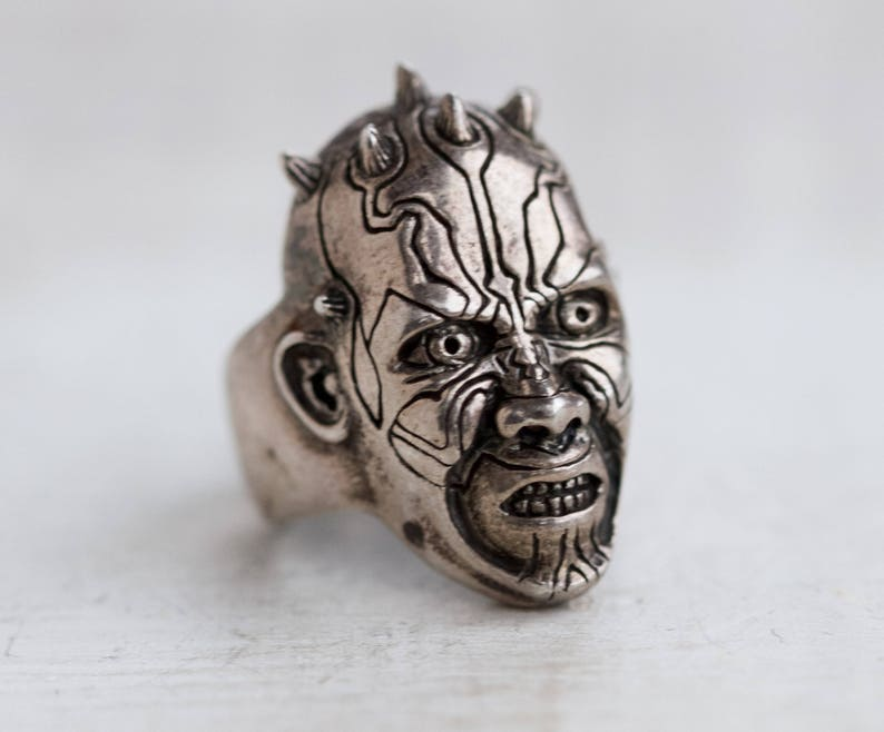 Darth Maul Ring  Solid Sterling Silver  Star Wars Character image 0