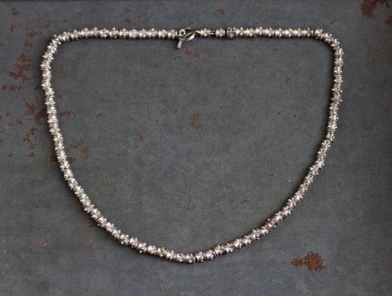 Chunky Short Necklace - Sterling Silver Boho Jewel