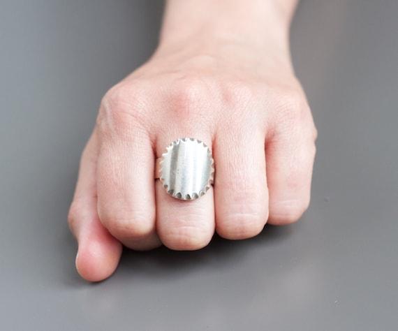 Big men ring Signet ring Geometric ring Brutalist ring Unique men ring Handsome ring Men ring silver Silver ring for him