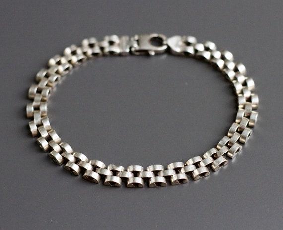 Chunky Chain Bracelet - Sterling Silver Brutalist