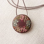 MADE TO ORDER: Spring wreath, sweet handmade polymer clay necklace