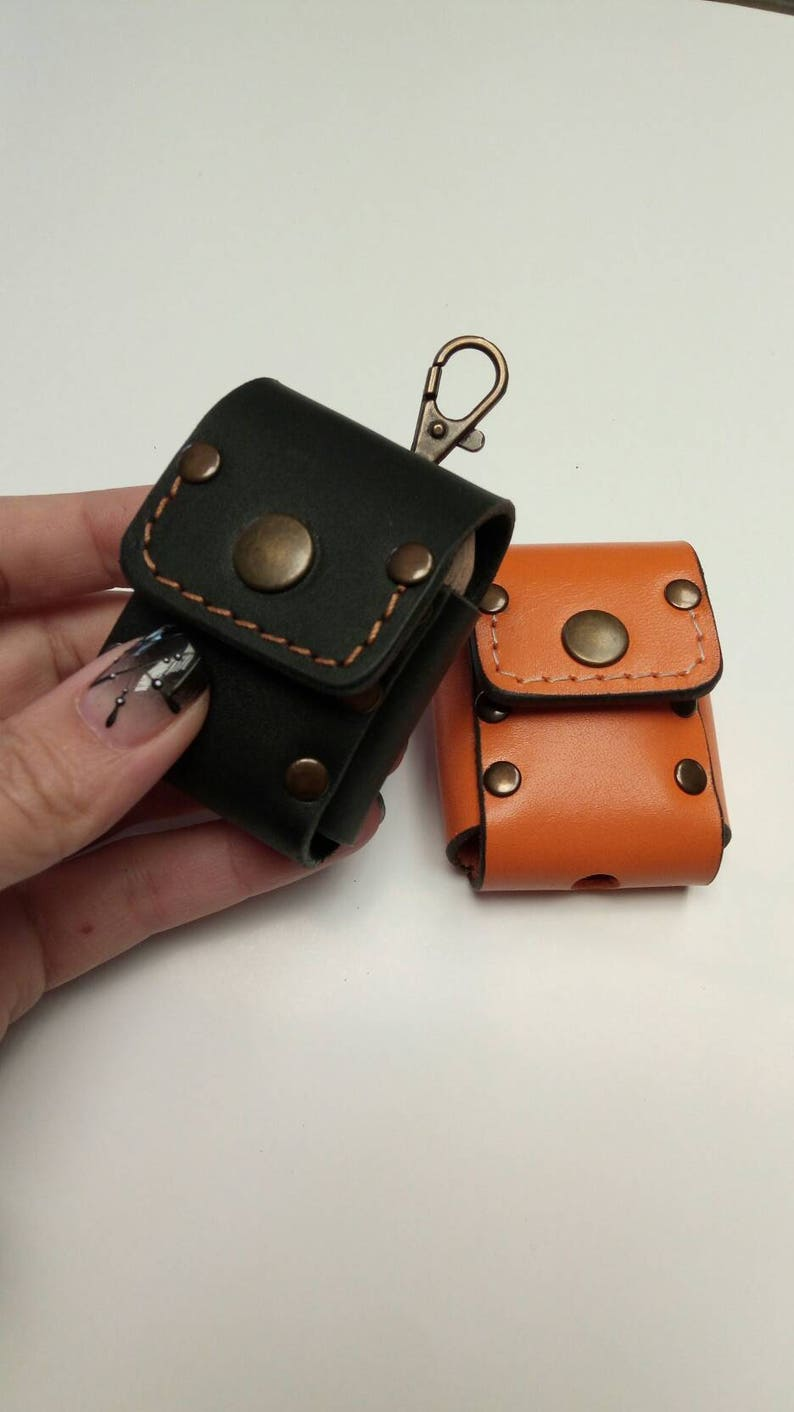 newest 2fca8 dfb5c Genuine cowhide leather Case for Apple Airpod Charging box , handmade  leather cover to fit Apple Airpod Charging box personalized gift ideas