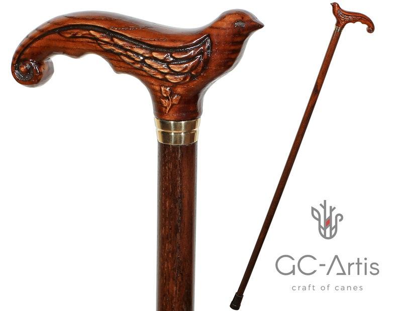 Only wooden shaft Vintage 3 Fold  Wood Walking Stick Cane Only For Cane Handle