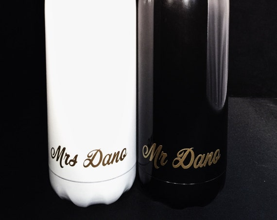 Wedding Swell Bottles for Groom or Bride - Wedding, Christmas, Anniversary, Valentine's Day - 17 oz S'well Bottles