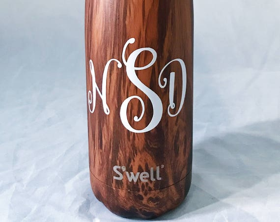 Monogram Swell Bottle  Swell bottle, swell bottle, Gift for her
