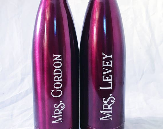 Teacher Gift Swell Bottles -  Initial and Name - Bridesmaids, Yoga, Teacher, Sorority Swell Bottle - 17 oz Swell Bottles