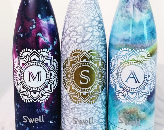 NEW White Lace Swell Bottle - Bridesmaids, Yoga, Monogram Swell, Personalized Swell, Custom Swell, Swell Bottle