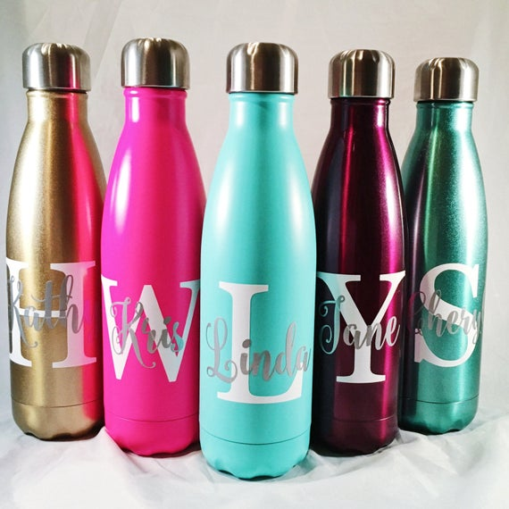 Personalized Swell Bottle - Big Initial and Name - 17oz Swell Bottles