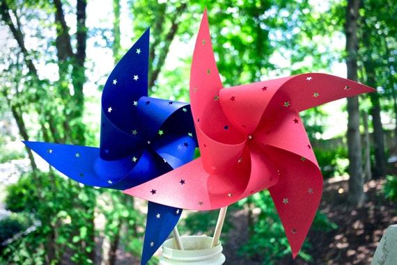 10 Star Spinning Pinwheels