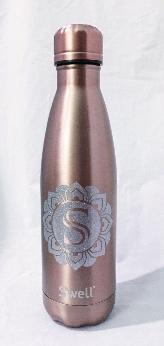 New Gem Collections Monogram Swell Bottles - Sorority, Bridesmaid, Birthday, Christmas, Workout, Yoga, Greek Swell Bottle