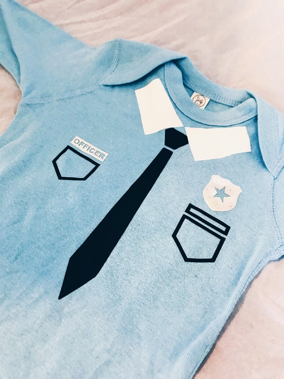 Police Baby Bodysuit - Baby, Toddler, baby shower, halloween onesie, costume onesie, police officer onesie
