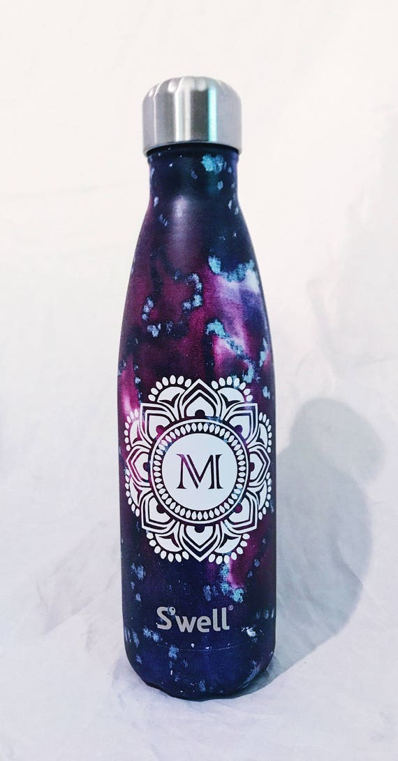 NEW Marrakesh Swell bottle with Mandala - Bridesmaids, Sorority, Yoga, Teacher, Personalized Swell, Custom Swell, Swell Bottle