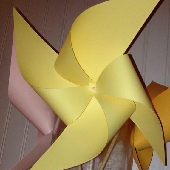 12 Custom Solid Colored Pinwheels, spinning pinwheels