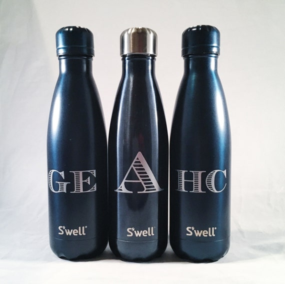 personalized swell bottle initial swell bottle christmas etsy