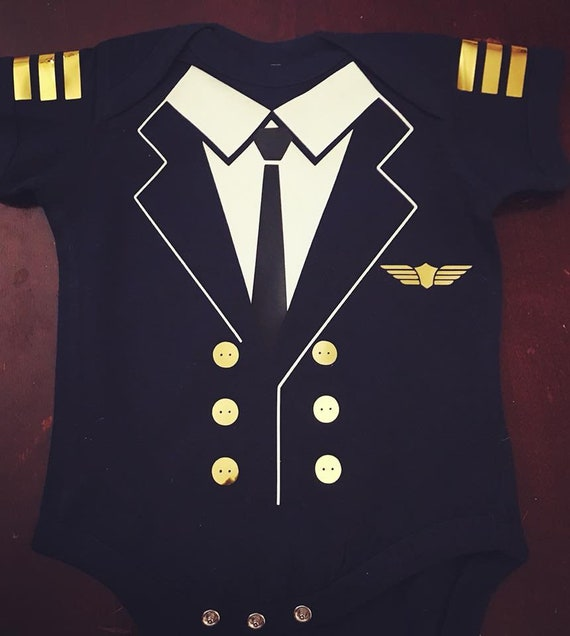 Pilot Baby Bodysuit - Baby, Toddler, baby shower, halloween onesie, costume onesie, police officer onesie
