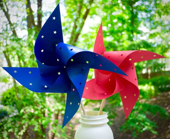 20 Star Spinning Pinwheels