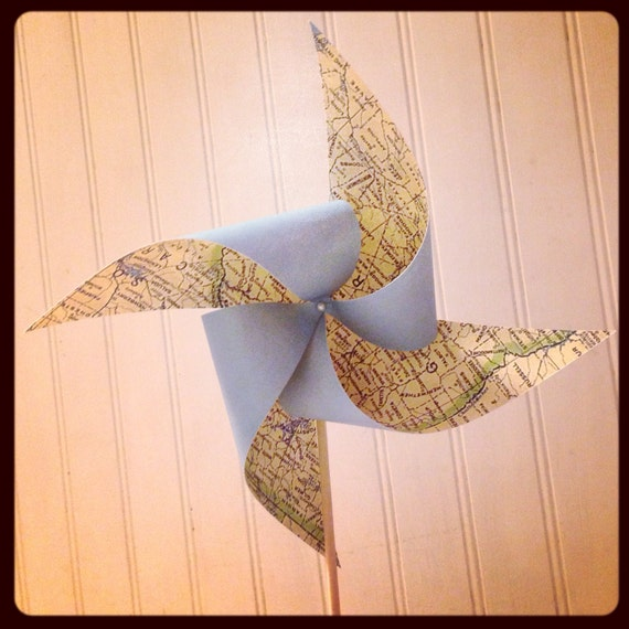 6 Custom Map Pinwheels