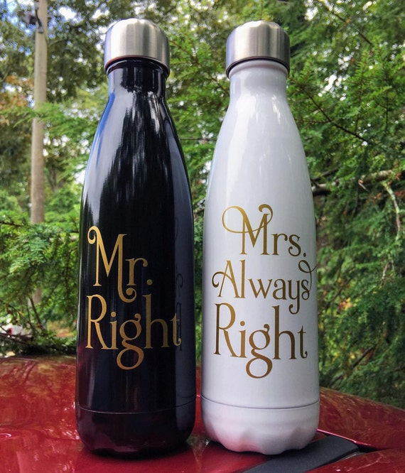 Bride and Groom Swell Bottles - Wedding, Couple, Engagement, Wedding Present,  Swell Bottle