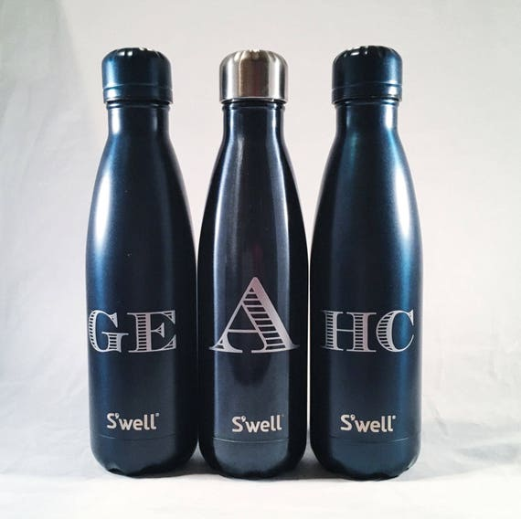Swell Water Bottle with Personalized Custom Name or Monogram