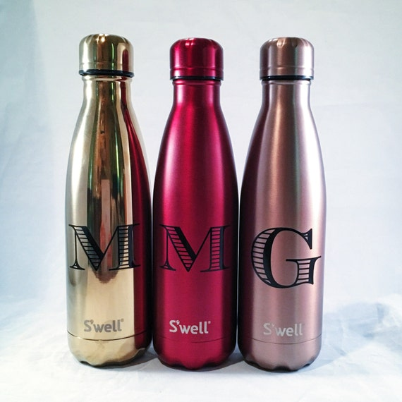 Personalized Swell Bottle - Initial Swell Bottle - Christmas, Groom, Groomsmen, Bride, Bridesmaid, Custom Swell
