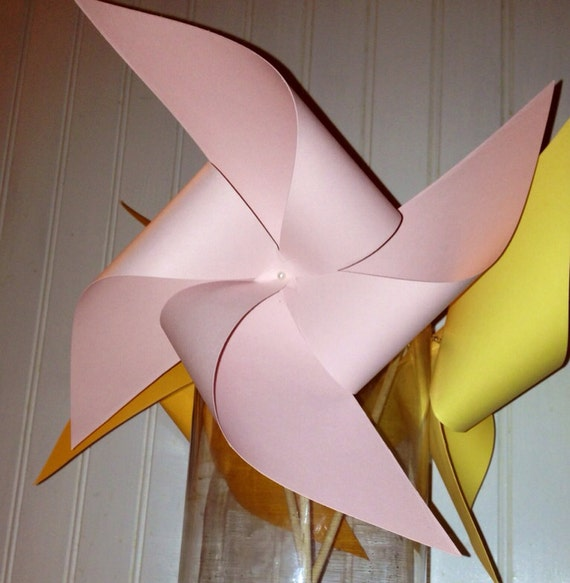8 Custom Solid Colored Pinwheels, spinning pinwheels