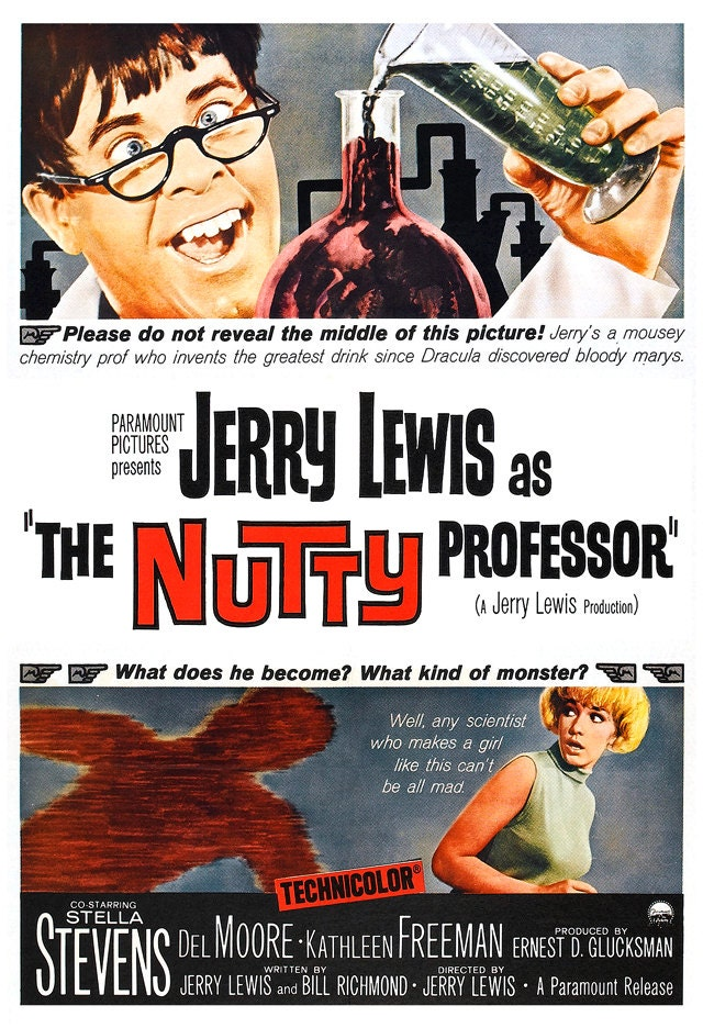 Jerry Lewis The Nutty Professor Home Theater Media Room Decor Etsy
