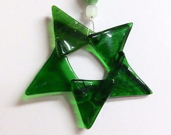 Star Ornament Fused Stained Glass