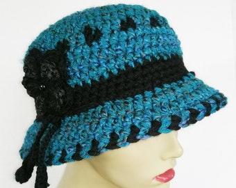 Ladies Teal Hat