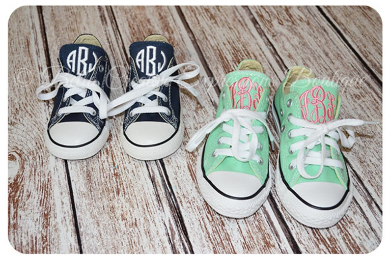 a41921cc37af4b Toddler Little Kids Monogrammed Converse Shoes