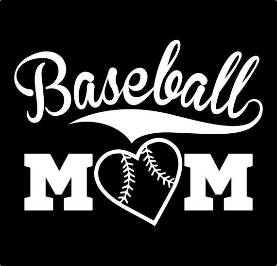 Baseball Mom Vinyl Decal