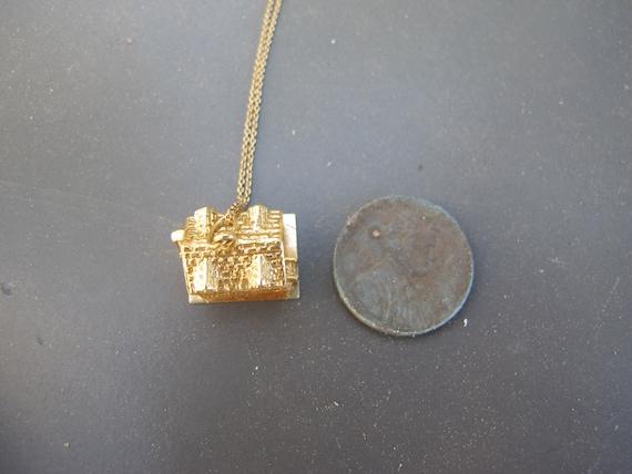 Vintage 14k Yellow Gold Mid Century House Charm P… - image 10