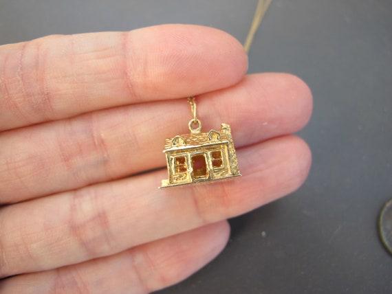 Vintage 14k Yellow Gold Mid Century House Charm P… - image 6