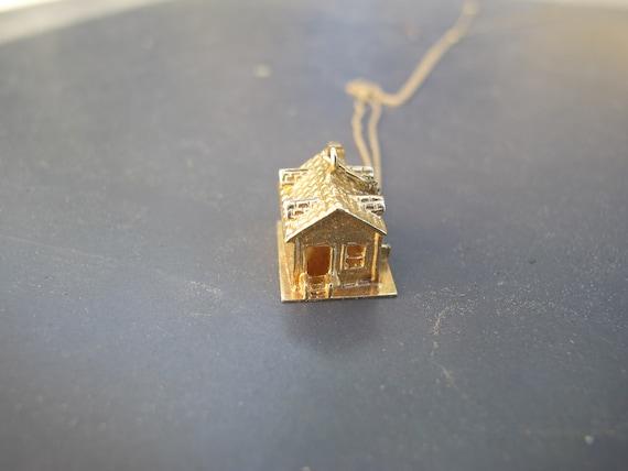 Vintage 14k Yellow Gold Mid Century House Charm P… - image 5