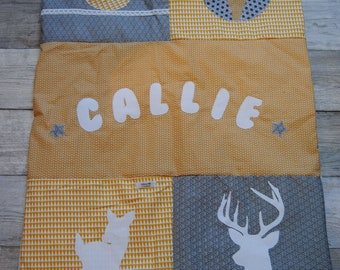 Forest, Callie theme personalized baby quilt