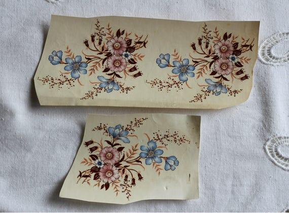 Set Of 3 Floral Vintage Decals Transfers CAROLINA Shabby Chic Furniture  Restoration Furniture Johanson Matthey, England 1980s From RamonaStore On  Etsy ...