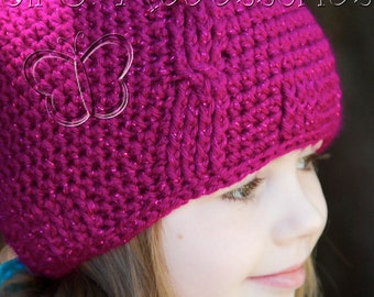 Girl's Cabled Beanie