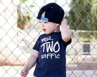 346bd25770a Mr TWOriffic - graffiti - 2nd Birthday shirt - Front and Back design - Name  on back - Terrific Two - 2nd birthday shirt boy - modern - urban