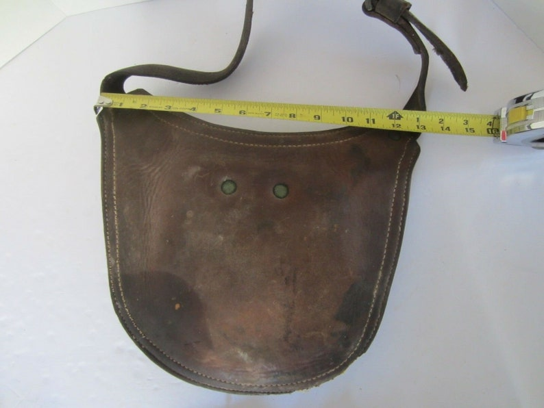 Thick Heavy Duty Farriers Leather Apron w Crotch Protection Cup