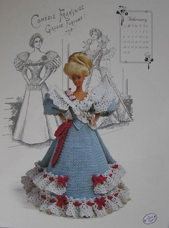 October 1994 ~ fits Barbie doll Annie/'s Gibson Girl crochet pattern booklet NEW