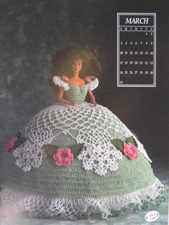 Miss September 1991 Antebellum Bed Doll Outfit fits Barbie Crochet Pattern
