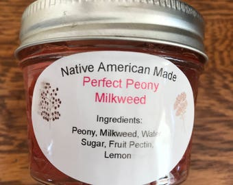 Vermont Wild Things All Natural Native American made Perfect Peony Milkweed Jelly
