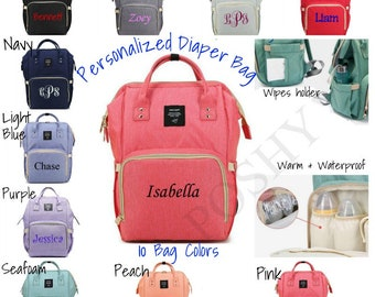 bb2567f90f51 Personalized Diaper Bag